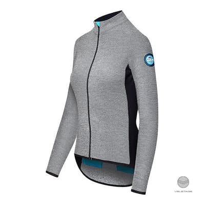 Cafe du Cycliste - MARGUERITE W long sleeve merino jersey - Grau