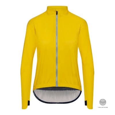 Cafe du Cycliste - SUZETTE W packable rain jacket - Gelb