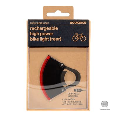 Bookman - CURVE REAR LIGHT 2 - Schwarz