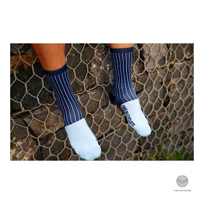 Socks-Vertical Striped - Blau