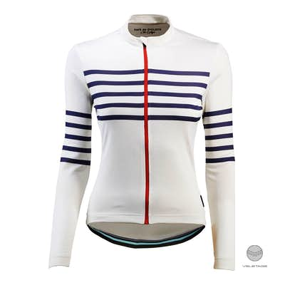 Cafe du Cycliste - CLAUDETTE W Long Sleeve Jersey - Weiss