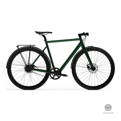 Desiknio - SINGLE SPEED - URBAN Commuter e-Bike - D'grün