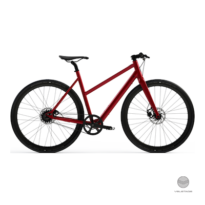 Desiknio - SINGLE SPEED - URBAN Commuter e-Bike - Rot