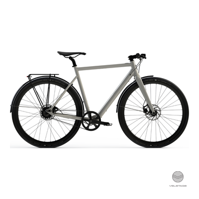 Desiknio - SINGLE SPEED - URBAN Commuter e-Bike - Weiss