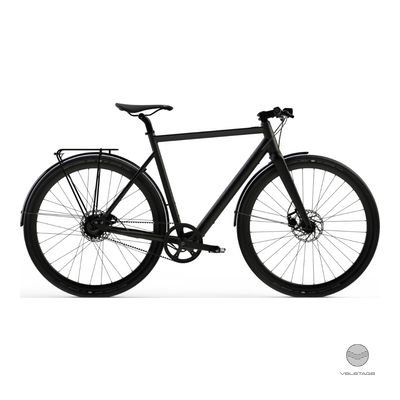 Desiknio - SINGLE SPEED - URBAN Commuter e-Bike - Schwarz