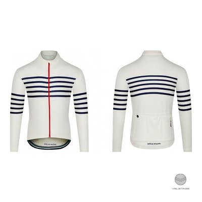 Cafe du Cycliste - CLAUDETTE M long sleeve merino - Weiss